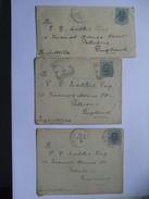 ITALY - 3 X Covers From Tivoli To England - 1878-00 Umberto I