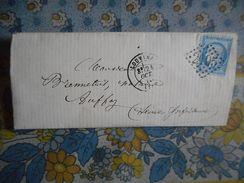 LAC  1873 LOUVIERS Pour AUFFAY Cachet Ambulant PARIS Au HAVRE - 1849-1876: Période Classique