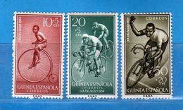 (Mn1) Guinée Espagnole **- 1959 - Yvert  410-411-412.  MNH. NUOVI Vedi Descrizione - Guinea Espagnole