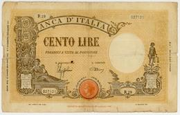 100 Lires - Italie - Banca D'Italia - N° R29-027121 - 7 Décembre 1942 - Quelques Coupures - B+ - [ 1] …-1946 : Kingdom