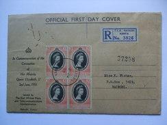 KENYA UGANDA TANGANYIKA KUT - 1953 Coronation FDC Registered Nairobi - Kenya, Uganda & Tanganyika