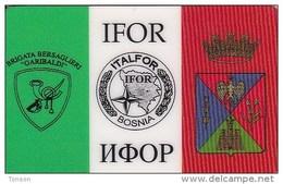 """Bosnia, GBR-AC-ITA-002, 50.000Lire, IFOR Bosnia - Brigata Bersaglieri """"Garibaldi"""", 2 Scans. - Bosnia"""