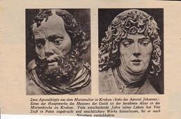 Krakau - Apostelköpfe Aus Dem Marienaltar - Veit Stoß - Zeitungsausschnitt - 7*10cm (29822) - Livres, BD, Revues