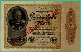 1000 Mark - / 1 Lilliard De Marks - Allemagne - 15 Decembre 1922 - N° 7E.042195 - TTB - - [ 3] 1918-1933 : Repubblica  Di Weimar