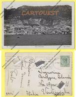 CPA GIBRALTAR VIEW OF THE TOWN 1936 ( Photographe L ROISIN + Stamp Half Penny GIBRALTAR  ) - Gibraltar