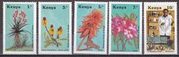 Kenia 1987 - Mi.Nr. 410 - 414 - Postfrisch MNH -  Pflanzen Heilpflanzen Medizin - Kenya (1963-...)