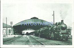 75855 ITALY FOGGIA APULIA FERROVIA STATION TRAIN INTERNO POSTAL POSTCARD - Unclassified
