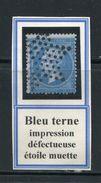 FRANCE- Y&T N°22- Bleu Terne- Impression Défectueuse- Etoile Muette De Paris - 1862 Napoléon III.