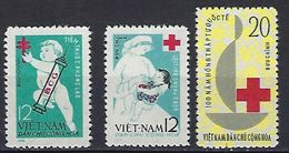 """Viet-Nord YT 318 à 320 """" Contre La Tuberculose """" 1963 Neuf** - Viêt-Nam"""