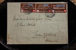 Suisse Enveloppe Affranchie De Genève Pour La France 1942 Pour Tenir Récupérez Les Matières Usagées - Covers & Documents