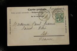 Suisse Carte Postale Affranchie Pour La France Oblitération Seelisberg 1902 - 1882-1906 Wappen, Stehende Helvetia & UPU