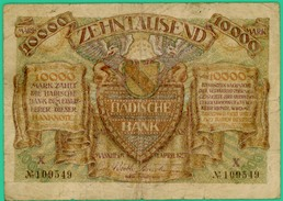 10 000 Mark - Allemagne - Avril .1923 - N° X - 109519 - Mannhem -  TB+ - - [ 3] 1918-1933 : République De Weimar