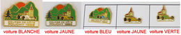 5 Pin's COURSE DE CÔTE FOUCHY 92 Et 93 Belle Qualité Signé BOUSSEMART (ALSACE - 67) - Rallye