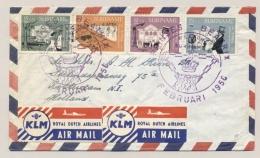 """Suriname - 1958 - Thalia Serie Op Cover Met Stempel """"Prinses Beatrix Welkom In Suriname """"naar Rotterdam / NL - Suriname ... - 1975"""