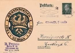 Entier Postal - 1931  Oberschliesen - 2 Scan - Allemagne