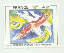"""2168 - Série """"Création Philatélique"""" Tableaux Les Plongeurs D'Edouard Pignon  (1981) - Frankreich"""