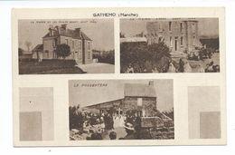 50/ MANCHE...GATHEMO. La Mairie Et Les Ecoles Avant Et Après Le 11 Août 1944. Le Presbytère...BOMBARDEMENTS - Autres Communes