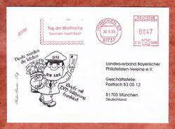 Infopost, Hasler C84-5638, Tag Der Briefmarke, 47 Pfg, Muenchen 1999 (40149) - Marcofilie - EMA (Printmachine)