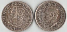 Afrique Du Sud 2 Shillings Georges VI 1941 Argent - Sudáfrica