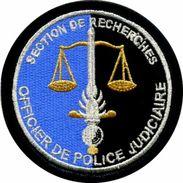 INSIGNE PATCH DE LA GENDARMERIE NATIONALE LA SR OPJ OFFICIER POLICE JUDICIAIRE SUR VELCROS ETAT EXCELLENT - Police & Gendarmerie