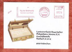 Infopost, Hasler C007778, Tag Der Briefmarke, 24 C, Muenchen 1999 (40151) - Marcofilie - EMA (Printmachine)