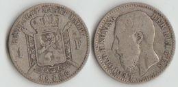 Belgique 1 Franc Léopold Argent 1886 - 07. 1 Franc