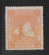 SIKKIM State India  10 Paise  Revenue  # 98283 Inde Indien Fiscaux Fiscal Revenue - Indien