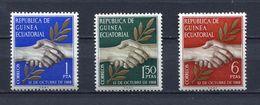 EQUATORIAL GUINEA 1968 Mi # 1 - 3 INDEPENDENCE MNH - Equatorial Guinea