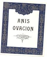 étiquette -  ANIS  OVATION - Argenté Brillant - (petit Clair Dos) - Bordeaux