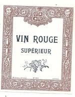 étiquette -  Vin Rouge Supérieur - Petit Clair Dos - Red Wines
