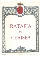 étiquette -  RATAFIA  De Cerises - Petits Clairs Dos - Rode Wijn
