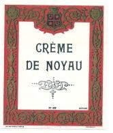 étiquette -  CREME DE NOYAUX  - Petits Clairs Dos - Labels