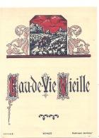 étiquette -  EAU DE VIE VIEILLE  - Petits Clairs Dos - Whisky