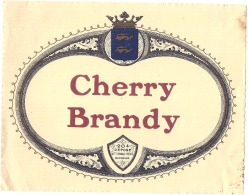 étiquette -  CHERY BRANDY   - Petits Clairs Dos - Whisky