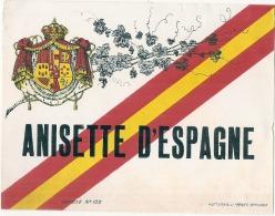 étiquette -  ANISETTE  D'Espagne - Point De Colle Dos - Bordeaux