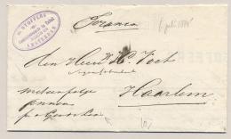 """Nederland - 1885 - Franco Vouwbrief (Memorandum) Verzonden """"met Een Pakje"""" Van Amsterdam Naar Haarlem - Niederlande"""