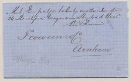 """Nederland - 1869 - Franco Vouwbrief Verzonden """"met Een Pakje Tabak, Per Wagen Van ..."""" Van Wageningen Naar Arnhem - Niederlande"""