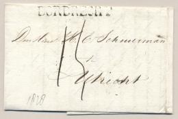 Nederland - 1826 - Complete Vouwbrief Van Dordrecht Naar Utrecht - ...-1852 Voorlopers