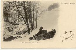 88/ CPA A 1900 - Les Hautes Vosges - Nos Douaniers Dans La Neige (Circulée En 1901) - France