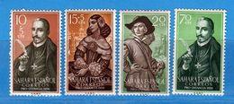(Mn1) SAHARA Espagnol **- 1959 - Yvert  143 à 146.  MNH. NUOVI Vedi Descrizione - Sahara Spagnolo