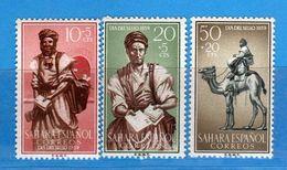 (Mn1) SAHARA Espagnol **- 1959 - Yvert  147-148-149.  MNH. NUOVI Vedi Descrizione - Sahara Spagnolo