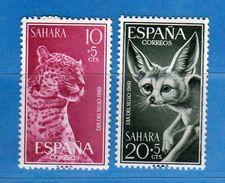 (Mn1) SAHARA Espagnol **- 1960 - Yvert  163-164.  MNH. NUOVI Vedi Descrizione - Sahara Spagnolo