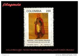 AMERICA. COLOMBIA MINT. 1995 BICENTENARIO DEL GENERAL JOSÉ MARÍA OBANDO - Colombia