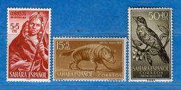 (Mn1) SAHARA Espagnol **- 1953-1957-1958 - Yvert  91-130-142.  MNH. NUOVI Vedi Descrizione - Sahara Spagnolo