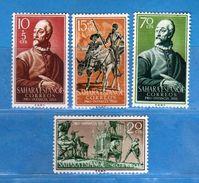 (Mn1) SAHARA Espagnol *- 1958 - Yvert  136 à 139.  MH. LINGUELLATI, Charnière Vedi Descrizione - Sahara Spagnolo
