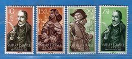 (Mn1) SAHARA Espagnol *- 1959 - Yvert  143 à 146.  MH. LINGUELLATI, Charnière Vedi Descrizione - Sahara Spagnolo