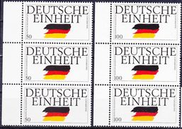 2017-0098 FRG 1990 Issue For Reunification 03. October 1990 Strip Of 3 Complete Set Mi 1477-8 MNH ** - Nuovi