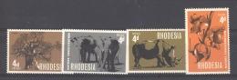 Rhodésie  :  Yv  158-61  ** - Zambèze