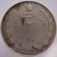 Iran 2 Rials SH1323 / 2 (1944) Reza Shah Pahlavi F/VF - Silver - Iran