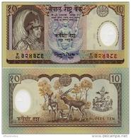 NEPAL       10 Rupees       Comm.      P-45       ND (2001)      UNC - Nepal